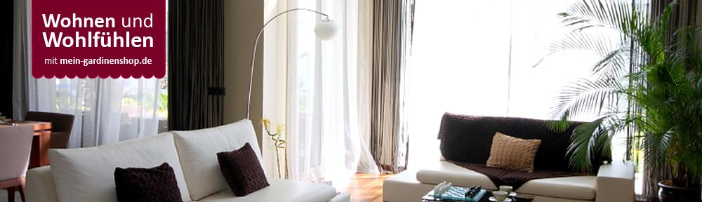 gardinen für das wohnzimmer | mein-gardinenshop - Schiebevorhange Wohnzimmer Modern