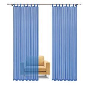 Blauer Schlaufenvorhang