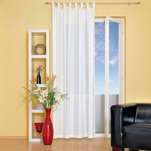 ein schlaufenvorhang f r ein warmes zimmer mein gardinenshop. Black Bedroom Furniture Sets. Home Design Ideas