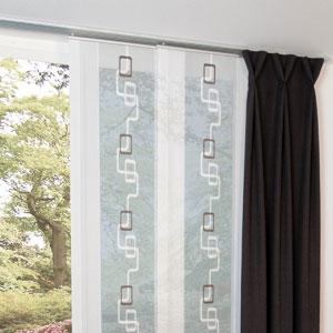 befestigung mit klemmleisten fl chenvorh nge ganz. Black Bedroom Furniture Sets. Home Design Ideas
