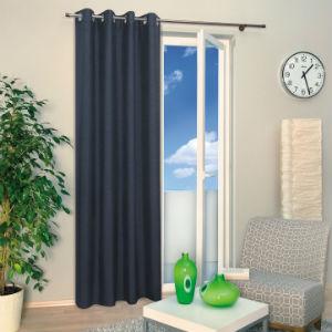 Dunkelblauer Vorhang von mein-gardinenshop.de