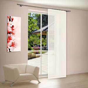 schiebegardinen flexible dekoration f r fenster und w nde. Black Bedroom Furniture Sets. Home Design Ideas