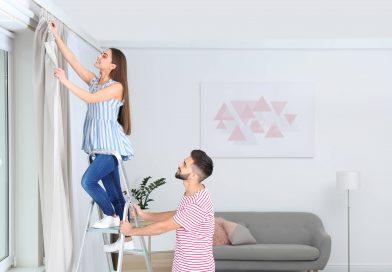 Richtiges aufhängen von Gardinen und Vorhängen