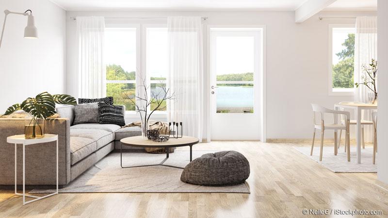 kombiniertes Wohn- und Esszimmer